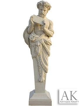 Greek Musician Marble Statue