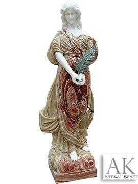 Italian Woman Marble Statue