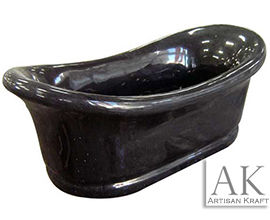 Bathtub Black Marble Slipper Bath Tub