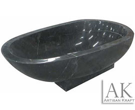 Black Forest Stone Pedestal Tub