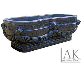 Royal Marble Bath Tub Pedestal Lion Head