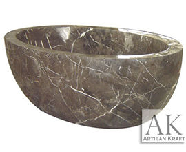 Bathtub Dark Emperador Spanish Marble Bath Tub