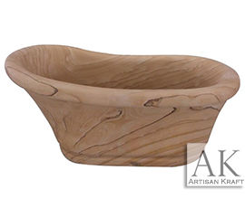 Old World Sandstone Slipper Tub | Freestanding Stone Bathtub