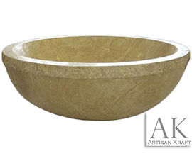 Travertine Round Tub