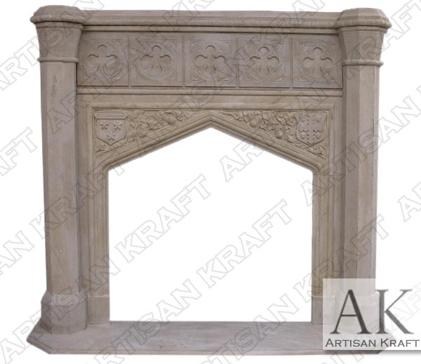 Tudor Dynasty Fireplace Mantel Limestone Fireplace