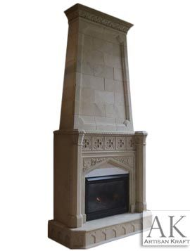 Overmantel Gothic Tudor Fireplace