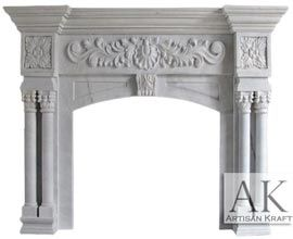 St Ives White Marble Mantel