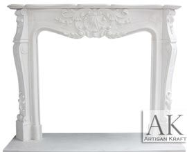 Versailles Marble Mantel | White Marble Fireplace
