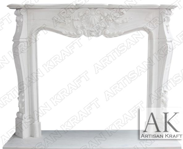 Versailles Marble Mantel White French Fireplace