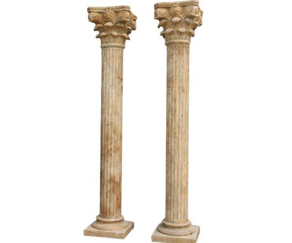 Fluted Corinthian Marble Column