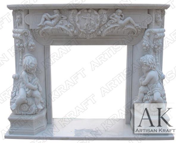 Angel Cherubim Carved Mantel Sale