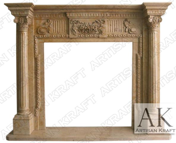 Augustus Ancient Column Marble Mantel