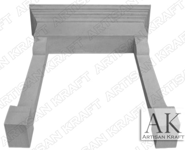 Belvedere Limestone Surround Fireplace Mantel
