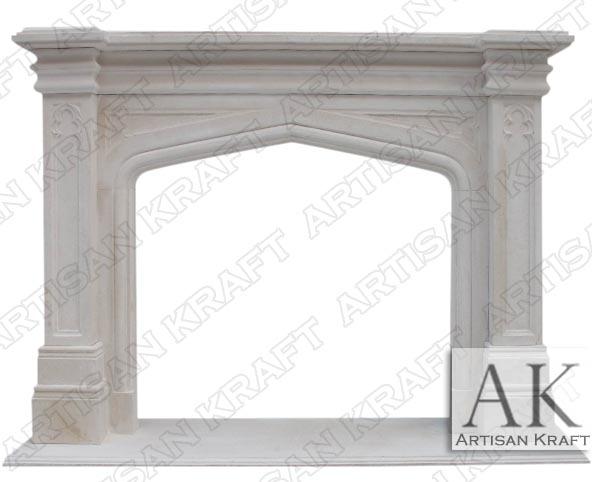 gothic-tudor-limestone-fireplace surround