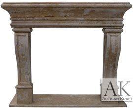 Leon Travertine Fireplace Mantel Surround