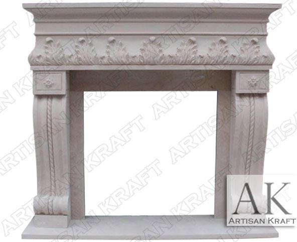 Naples Corbel Sandstone Fireplace