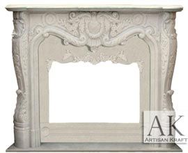 Regal French Marble Versailles Mantel