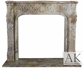 Bella Vista Antique Travertine Mantel