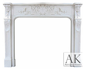 Bella Vista Statuary Marble Surround Fireplace