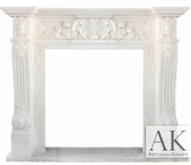 Verona French Marble Fireplace Mantel Surround