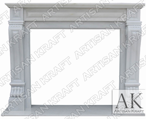 Italian Regal Statuary Antique Fireplace