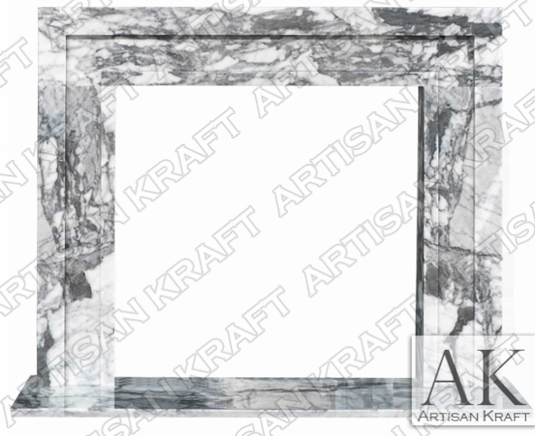 Modern Contemporary Fireplace ARABESCATO Marble