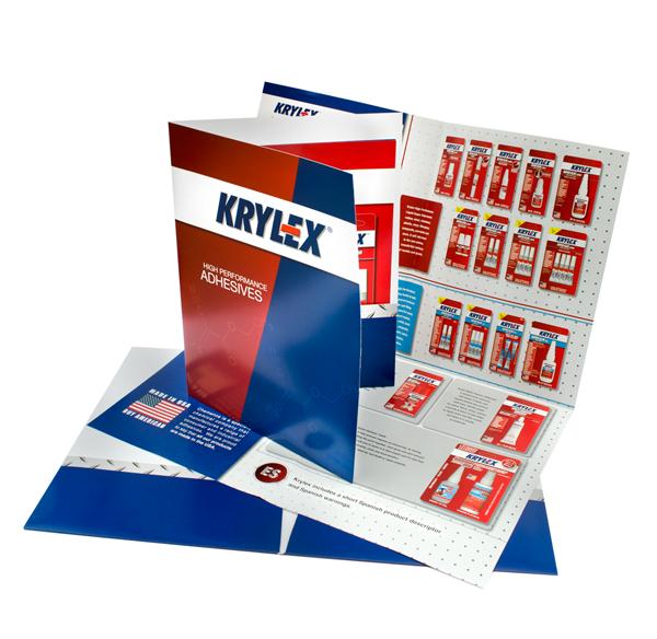 krylex superglue brochure and folder