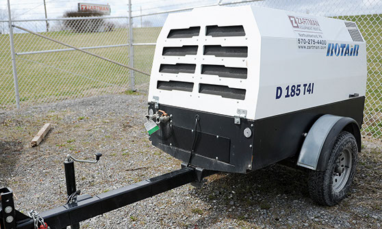 185 CFM Rotair Diesel Air Compressor Rental