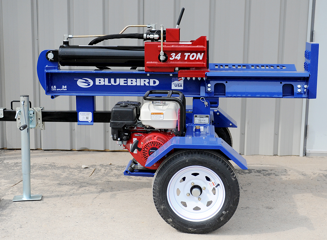 Blue Bird log splitter rental