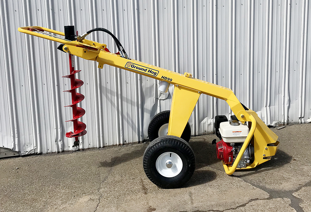 Ground Hog towable post hole digger rental