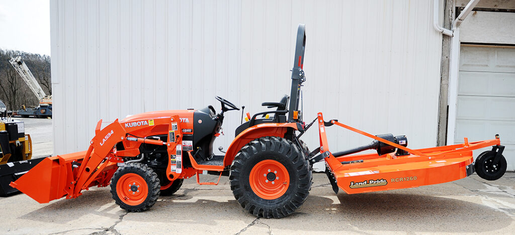 Kubota Compact Tractor Rental with attachments