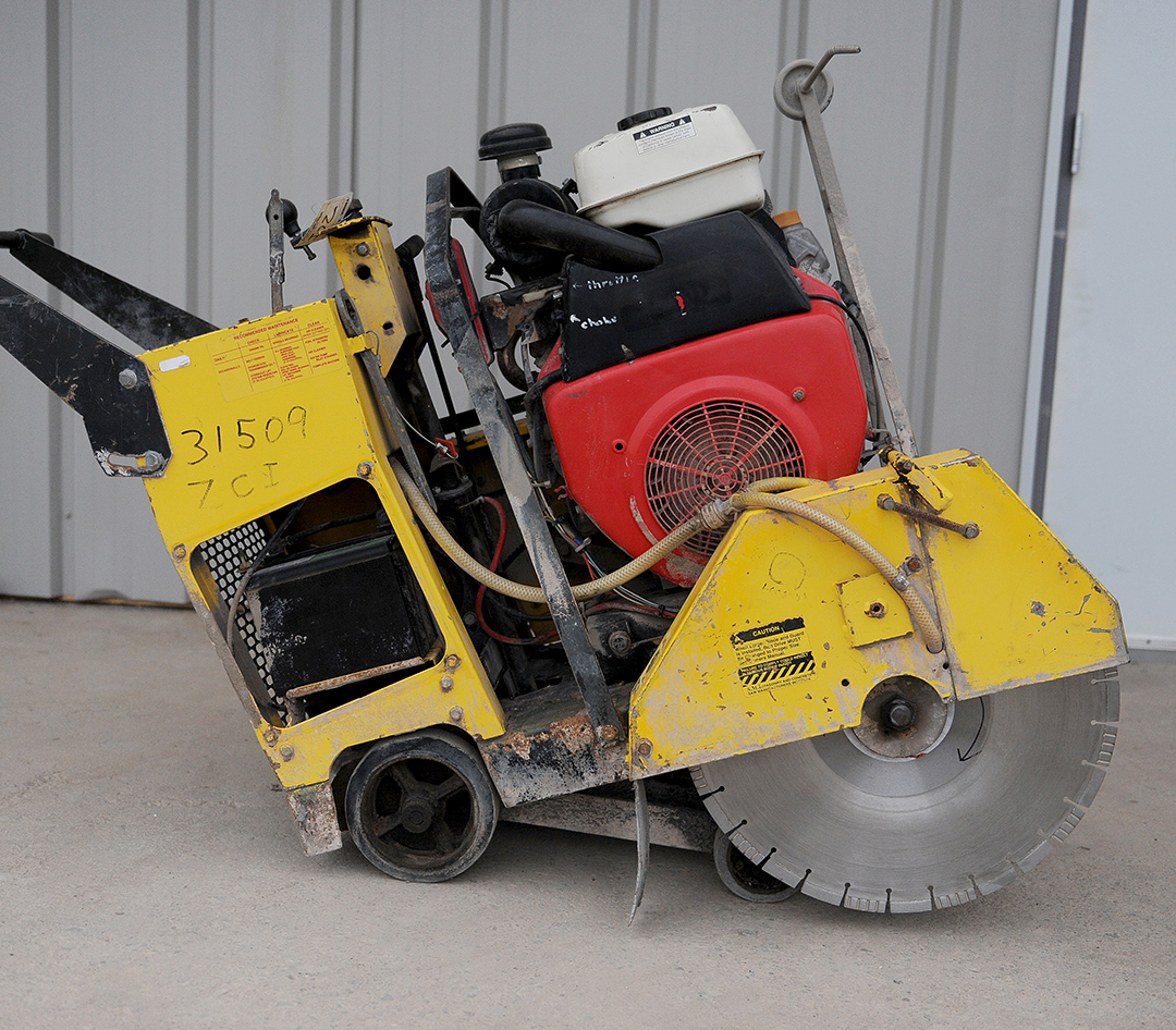 walk-behind floor saw rental