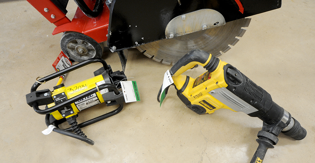 Compaction and Concrete Tool Rental Items