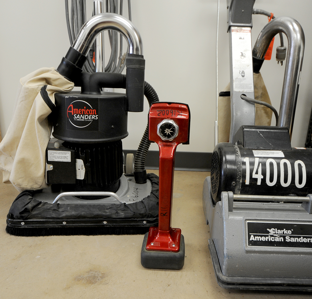 A few of the flooring tools for rent