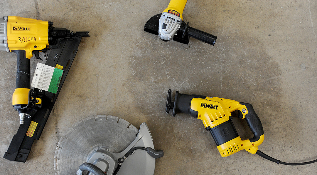 Variety of construction equipment rental items