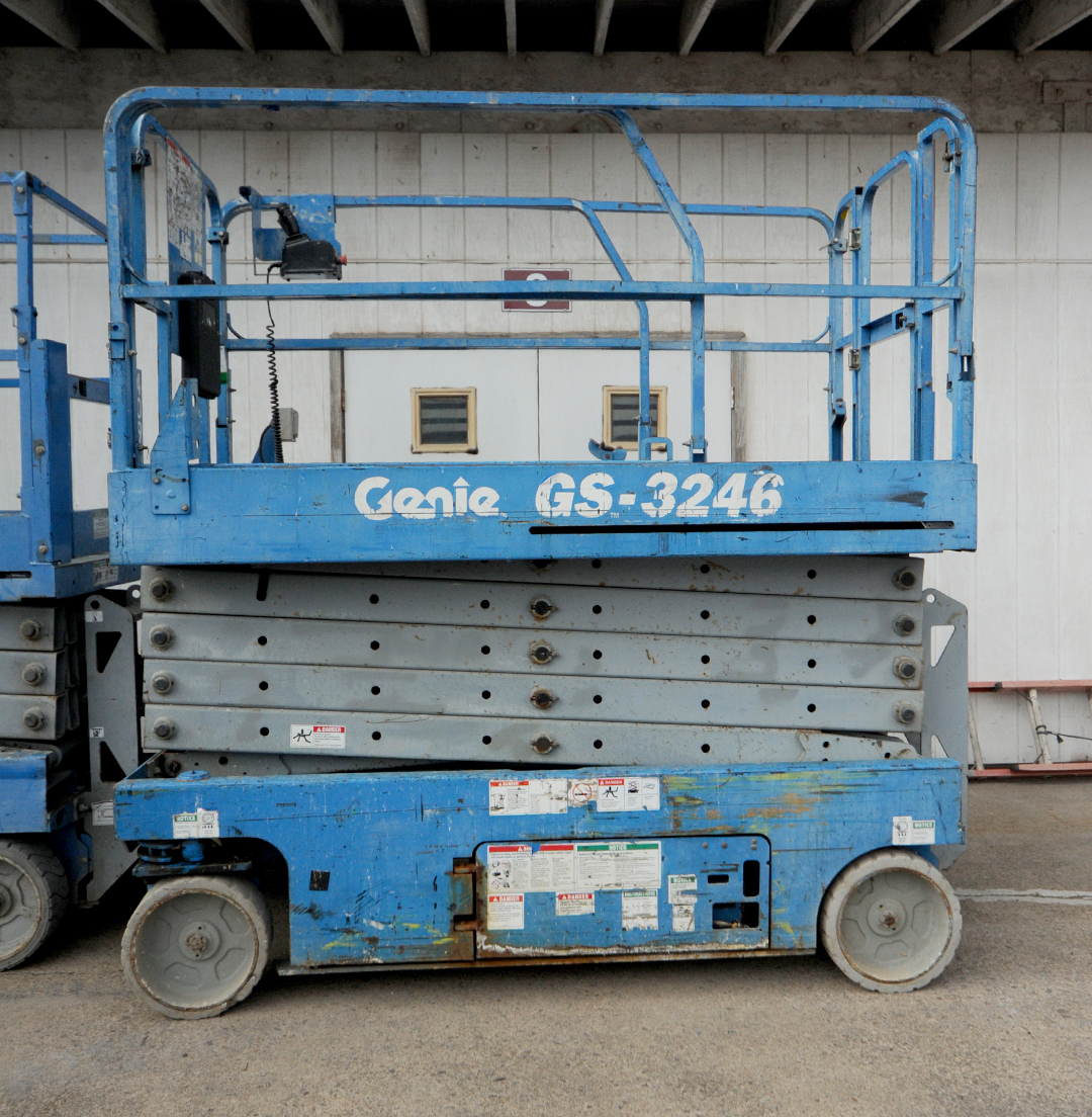 Genie 3246 slab scissor lift rental