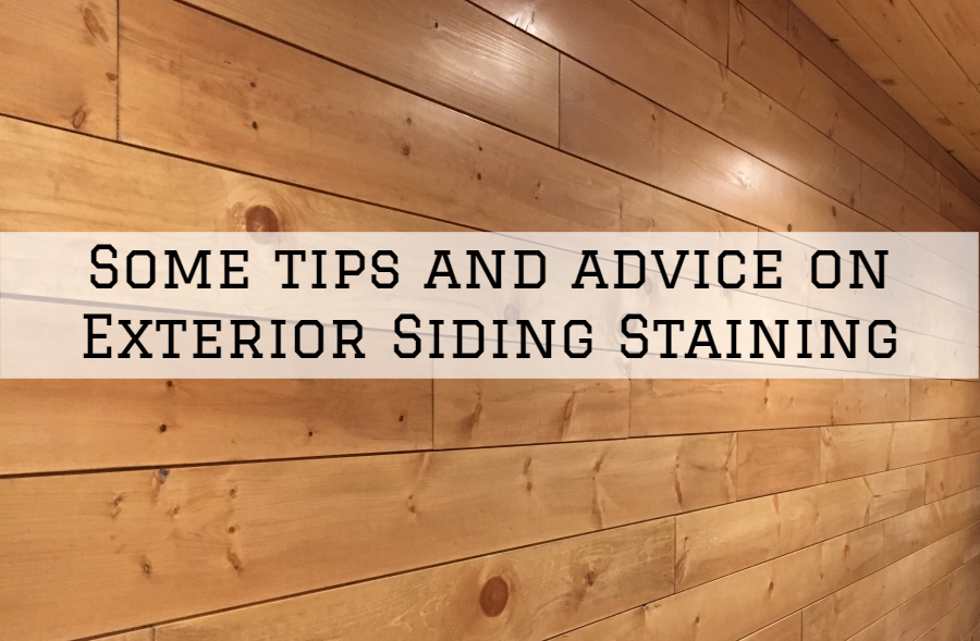 Some tips and advice on Exterior Siding Staining in Boston, MA