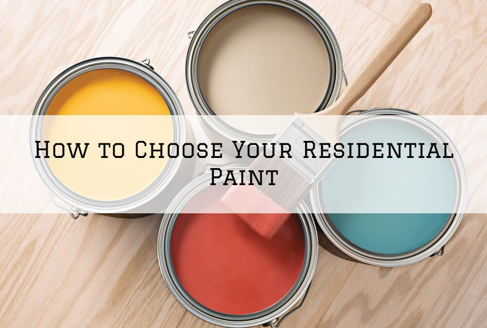 How to Choose Your Residential Paint in Boston, MA