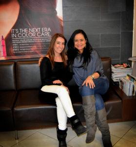 Karla Dias and Patricia Spuri at Carlos Lobo Salon