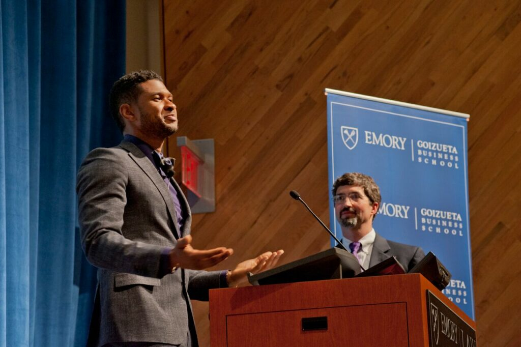 Usher Raymond IV delivers a powerful keynote address