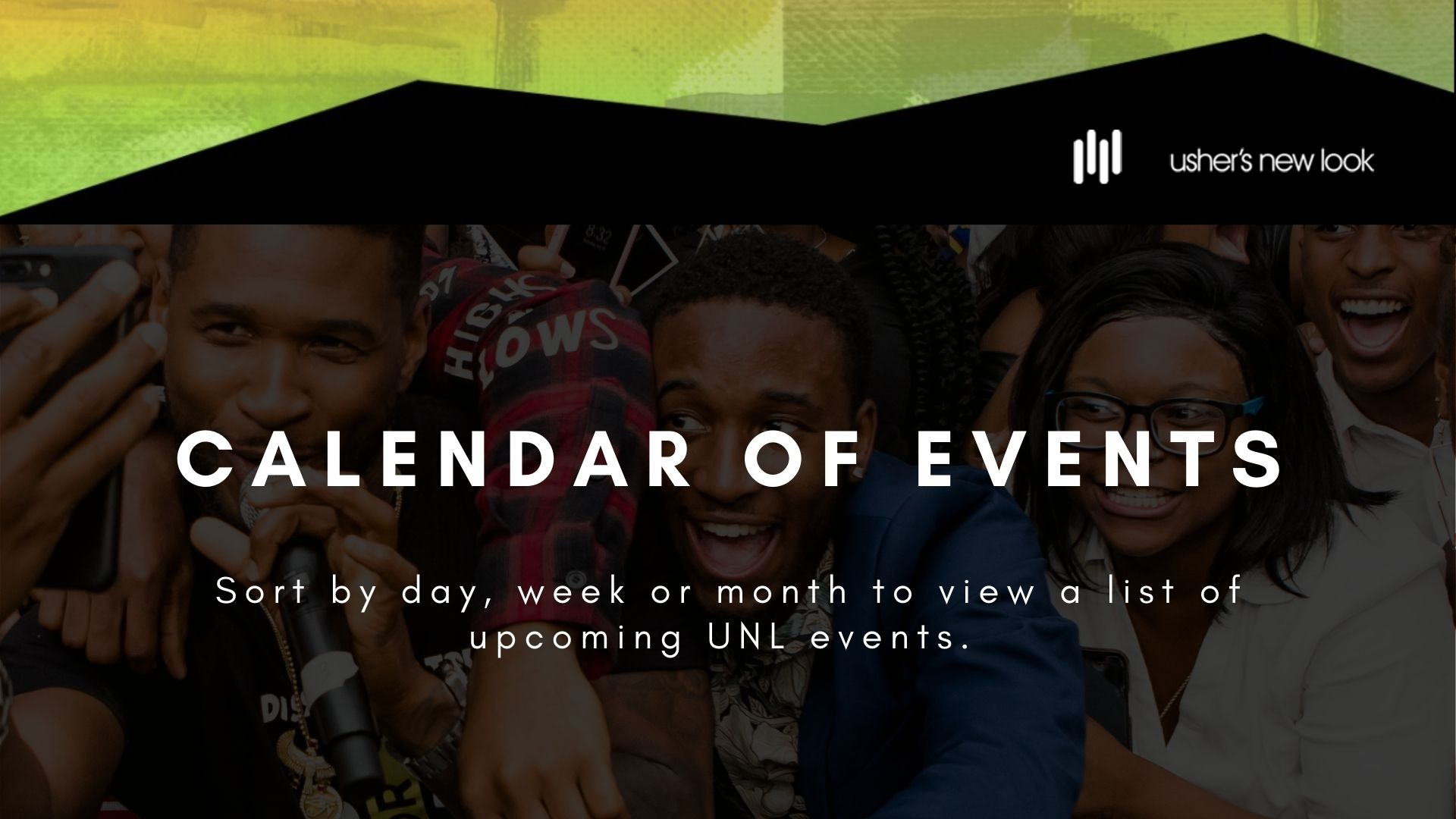Usher's New Look Events Calendar