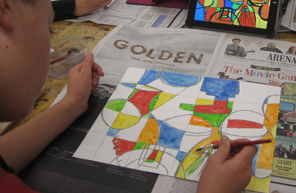 A CPS student works on a project derived from the conference.