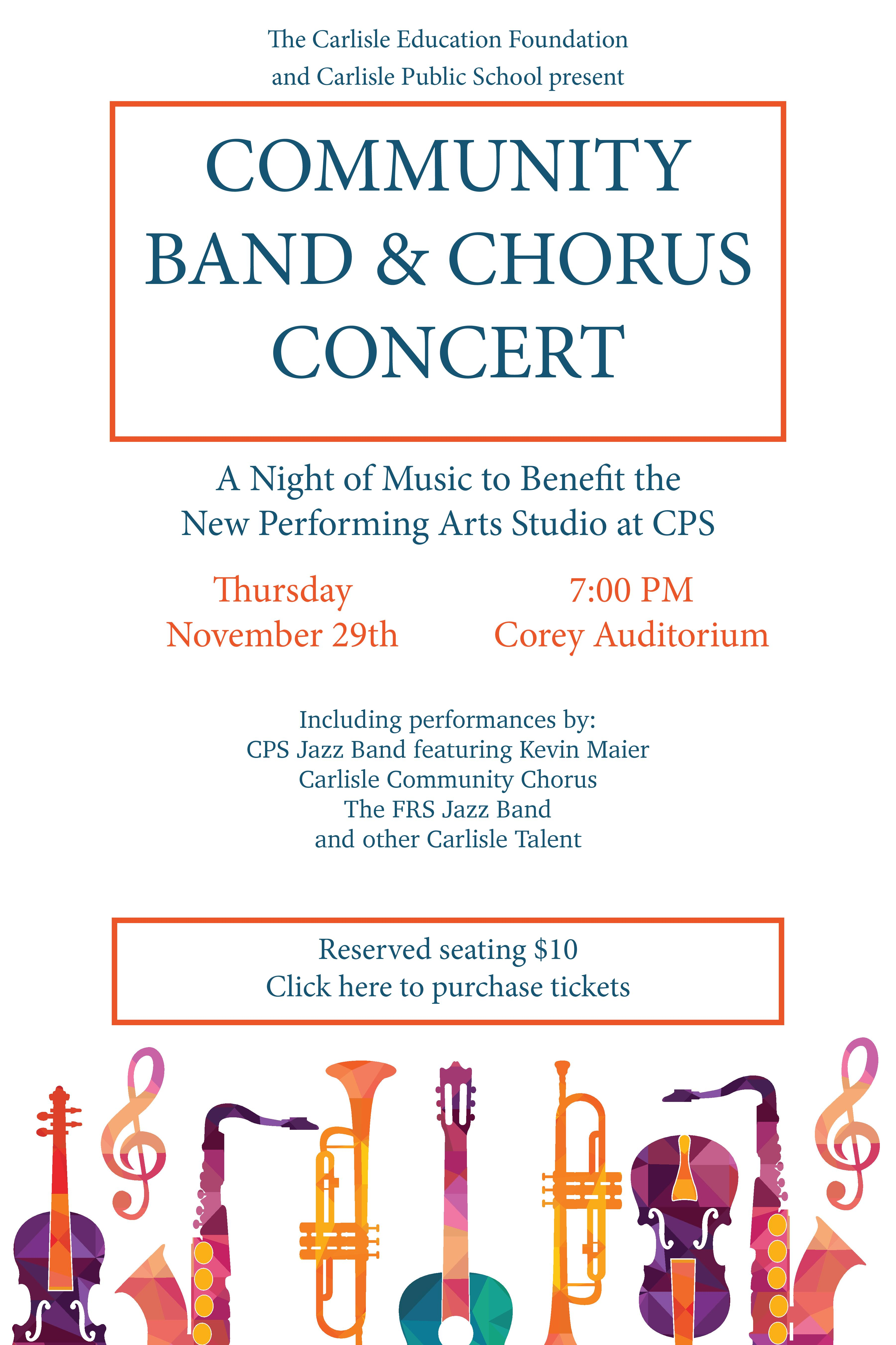 Community Band & Chorus Benefit Concert