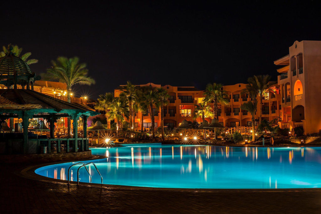 Beautiful resort on the Sinai peninsula of Egypt