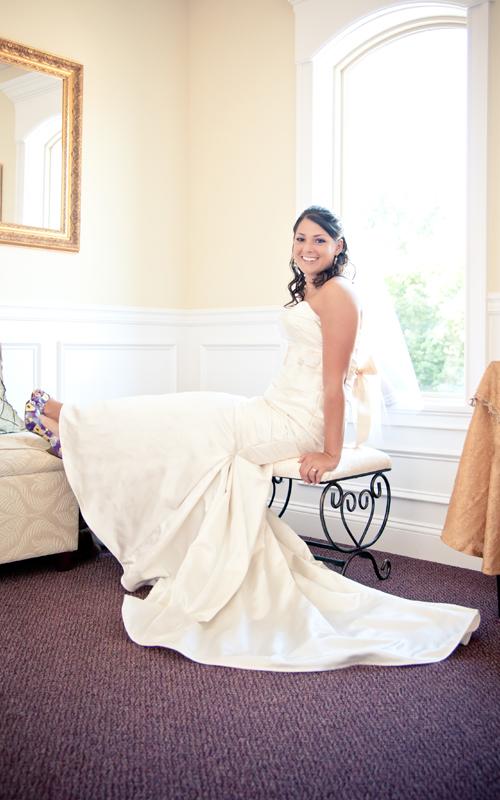 Bride Posing in Bridal Suite