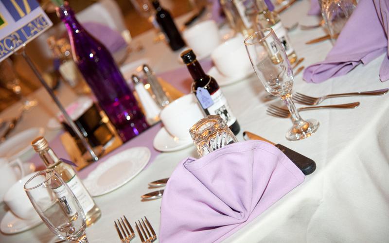 Table Setting at Banquet Facility