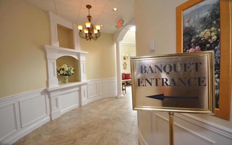 Entrance to Banquet Facility