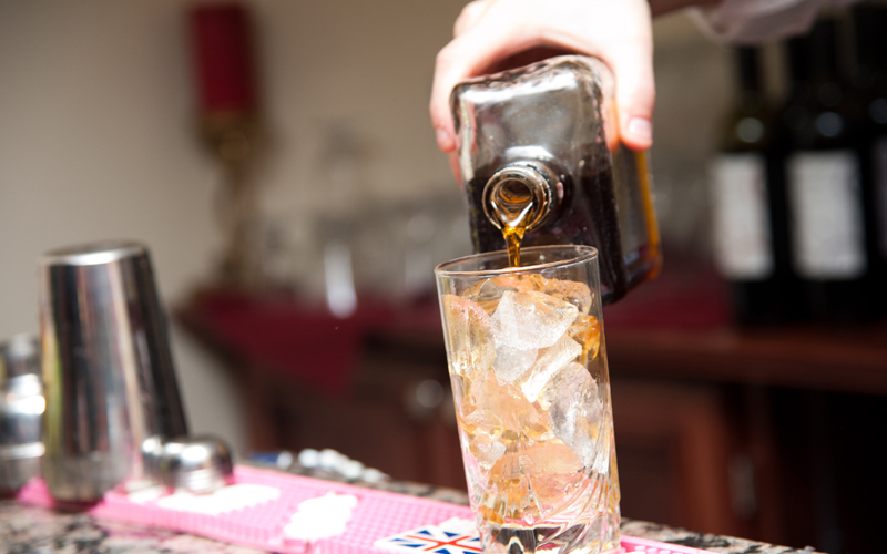 Full Liquor Bar at Testa's