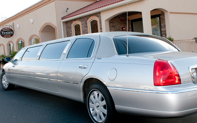 Limo Arriving at Testa's Event Facility