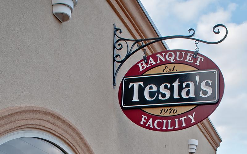 Testa's Banquet Facility Sign Est 1976